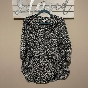 Boutique - leopard print quarter sleeve top